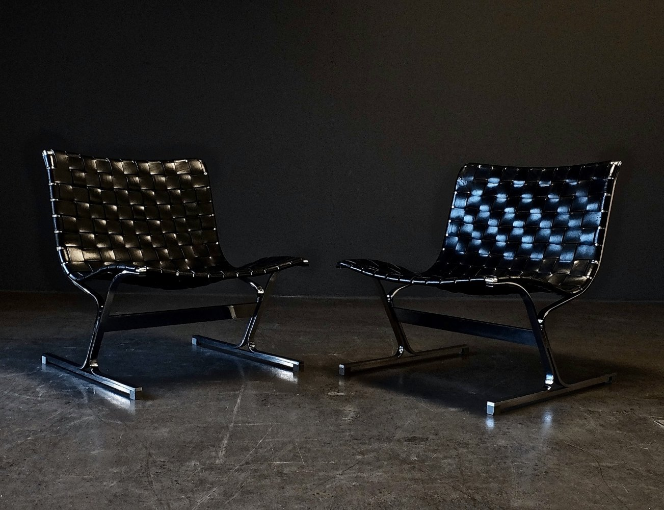 Pair of PLR 1 lounge chairs by Ross Littell for Herman Miller, 1960s