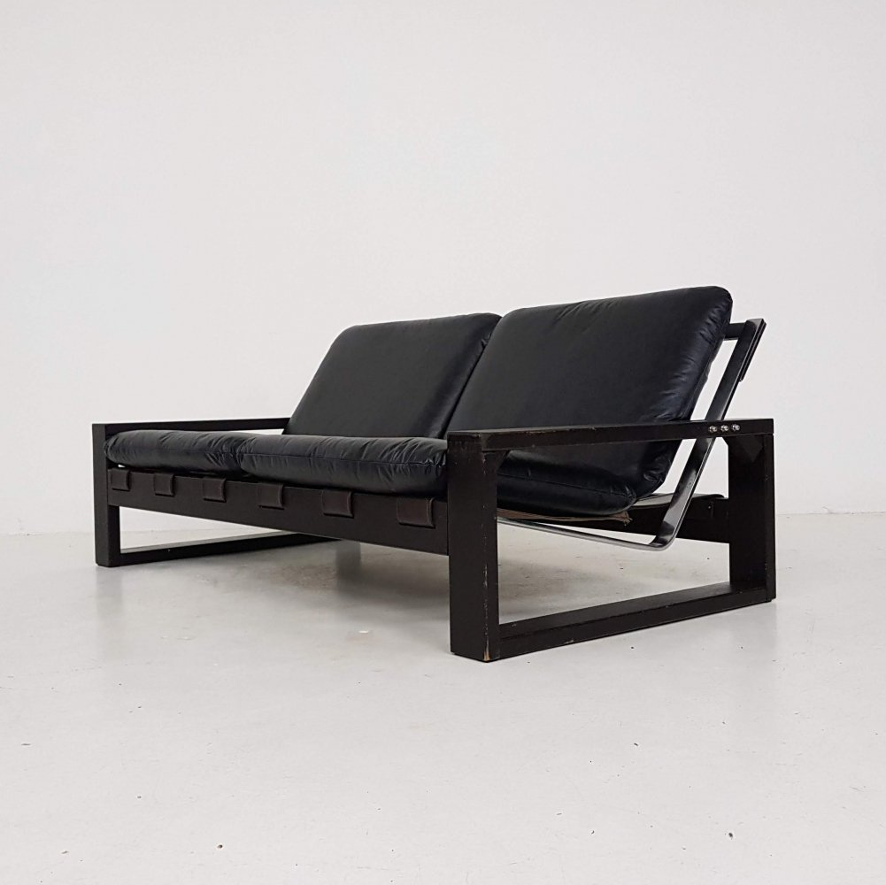 Brutalist Sonja Wasseur two-seater sofa, The Netherlands 1970
