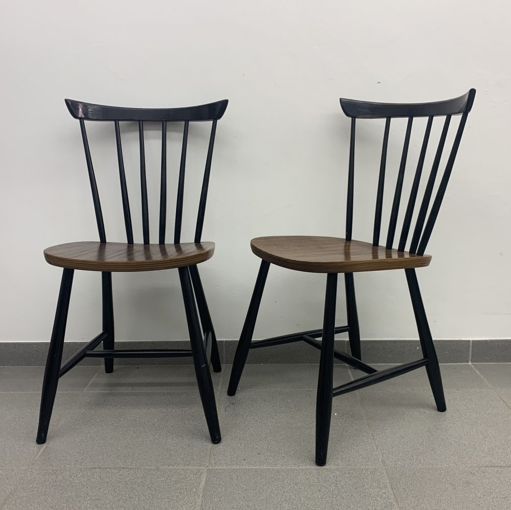 Set of 2 vintage dining chairs, 1960