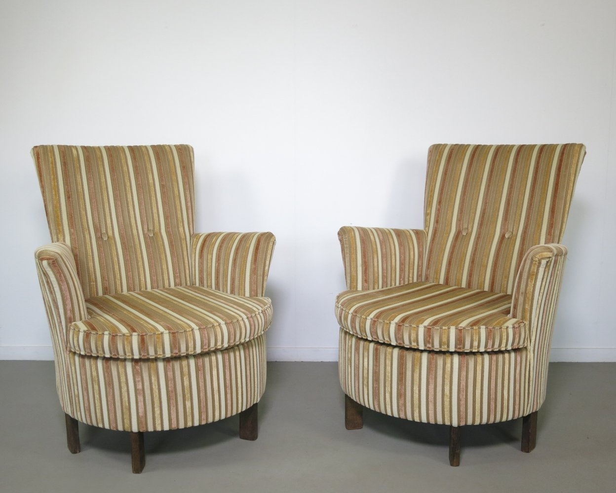 Set of 2 lounge chairs, 1950