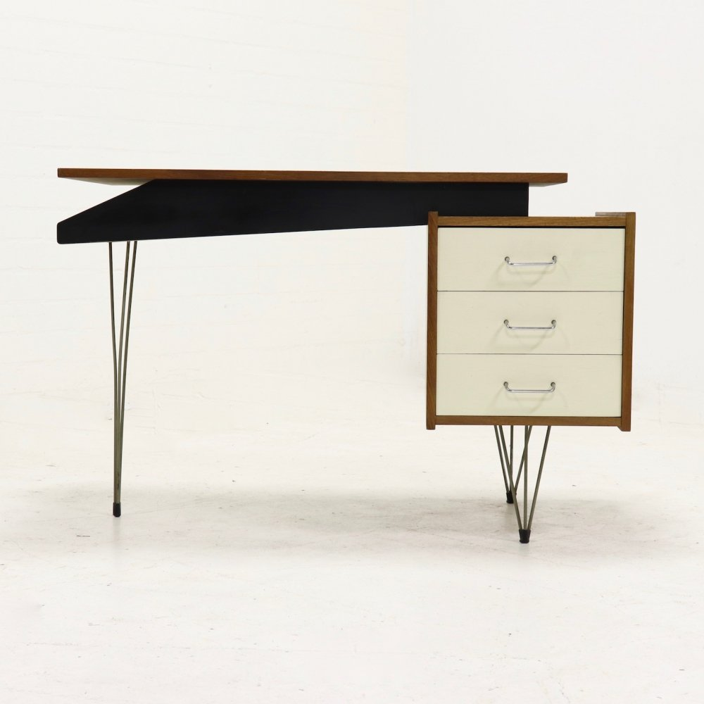 Mid-Century Hairpin Desk by Cees Braakman for Pastoe, 1950