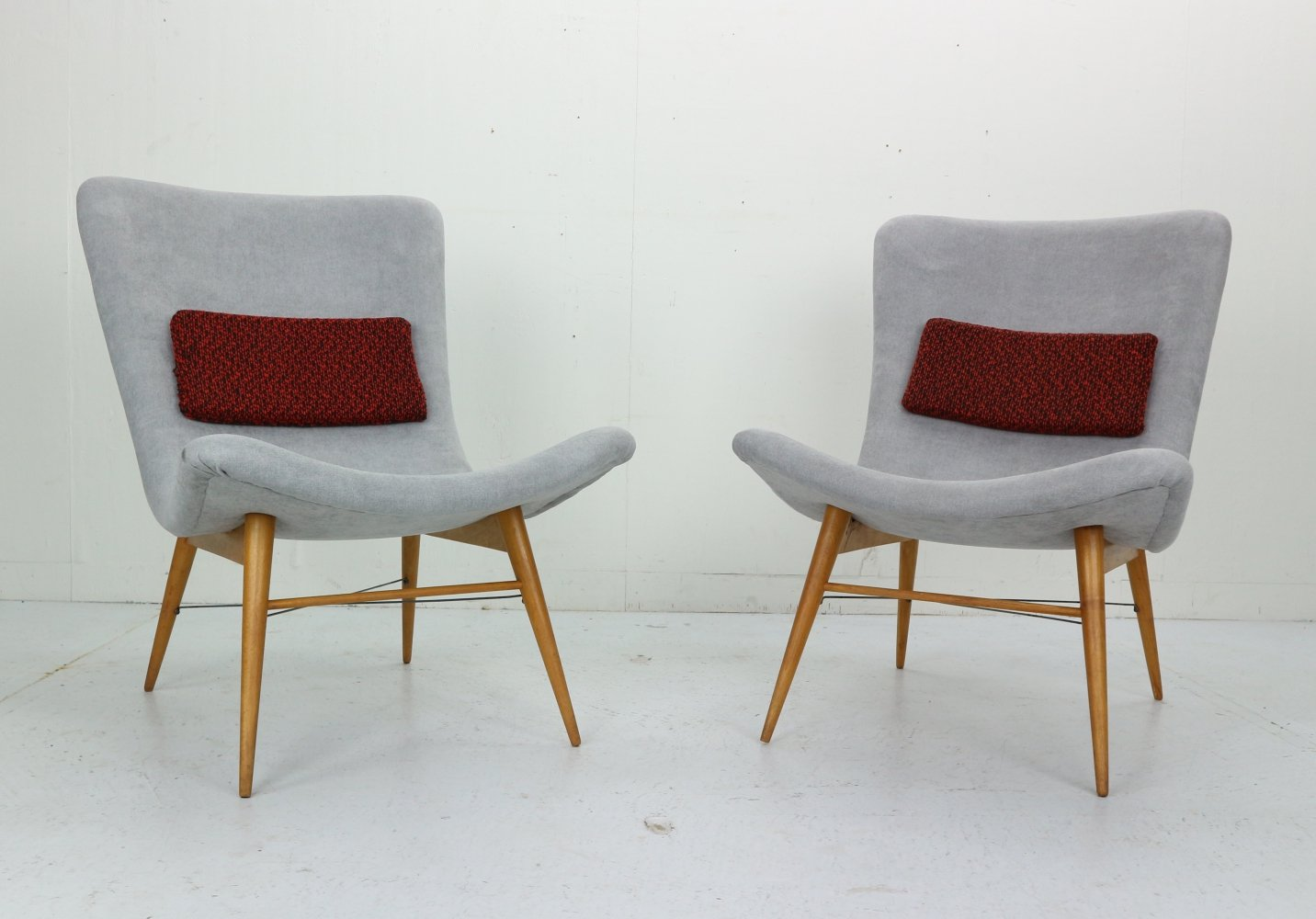 Set of 2 Lounge Chairs by Miroslav Navratil, 1959
