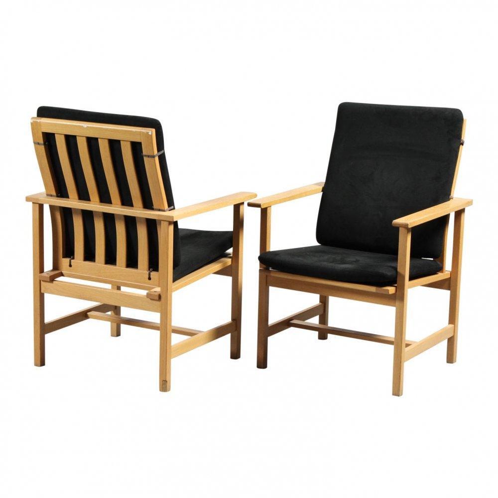 2 x arm chair by Børge Mogensen for Fredericia Stolefabrik, 1960s