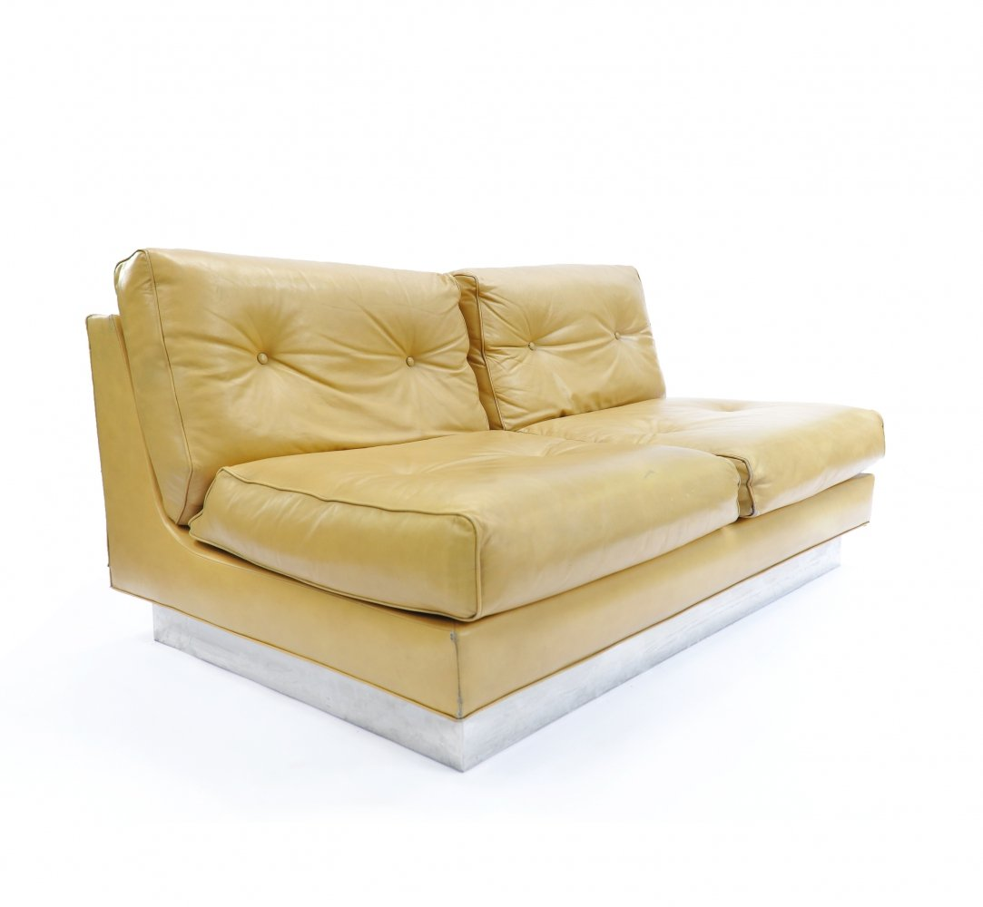 Elegant French Lounge Sofa by Jacques Charpentier, 1970s