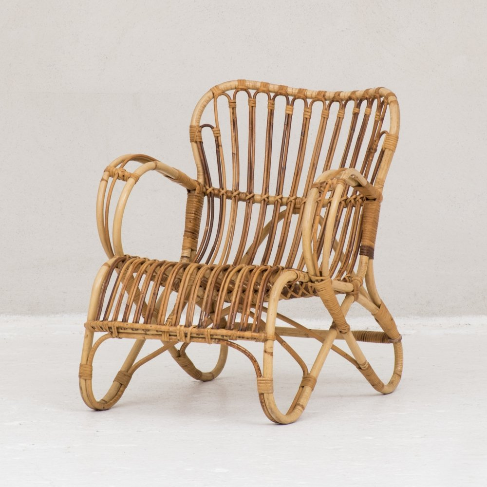 2 x Model RB-2 arm chair by Rohé Noordwolde, 1950s