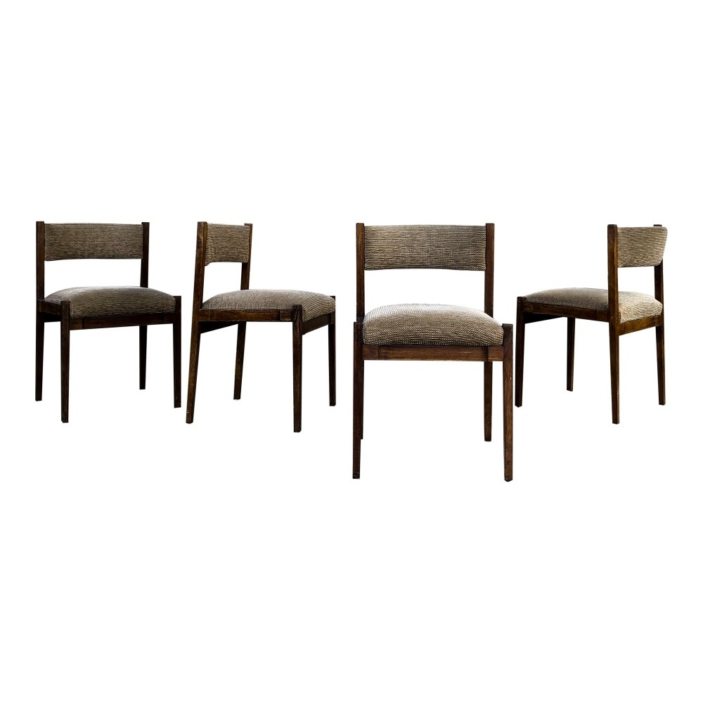 Set of 4 Gianfranco Frattini Midcentury Mod.105 Dining Chairs for Cassina, 1960