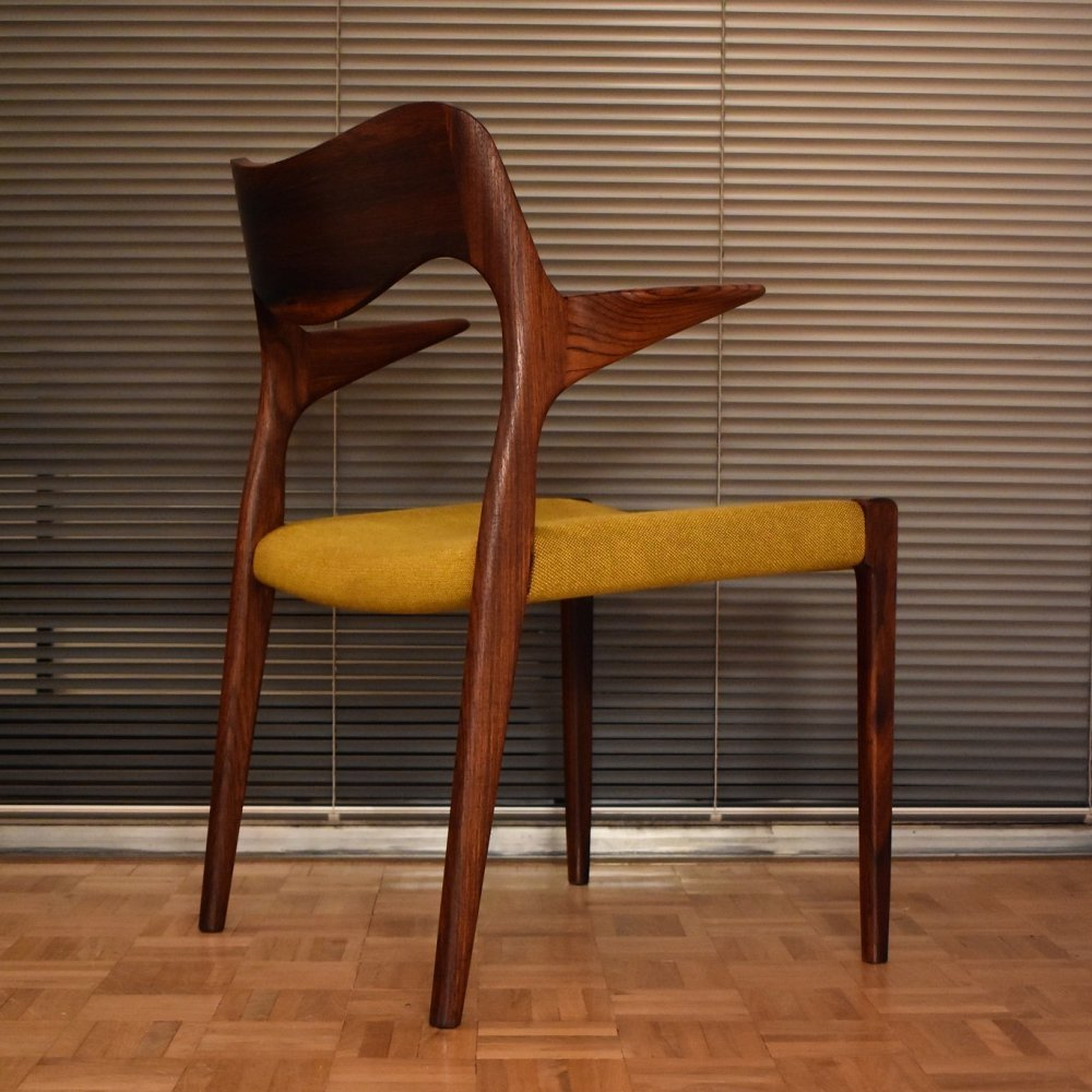 Rosewood Model 55 chair by Niels Otto Møller