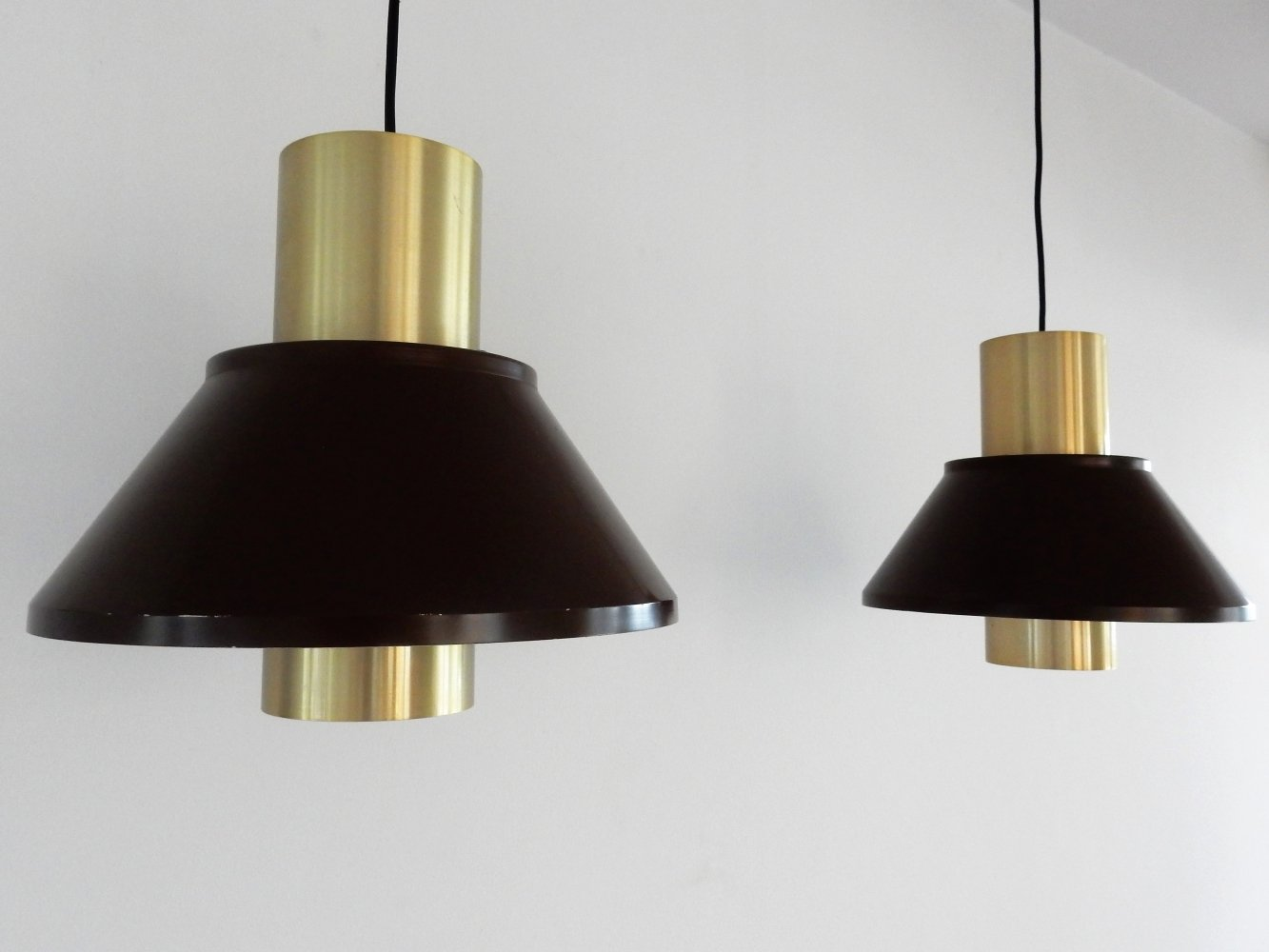 Set of 2 Life pendant lamps by Jo Hammerborg for Fog & Mørup, Denmark 1970