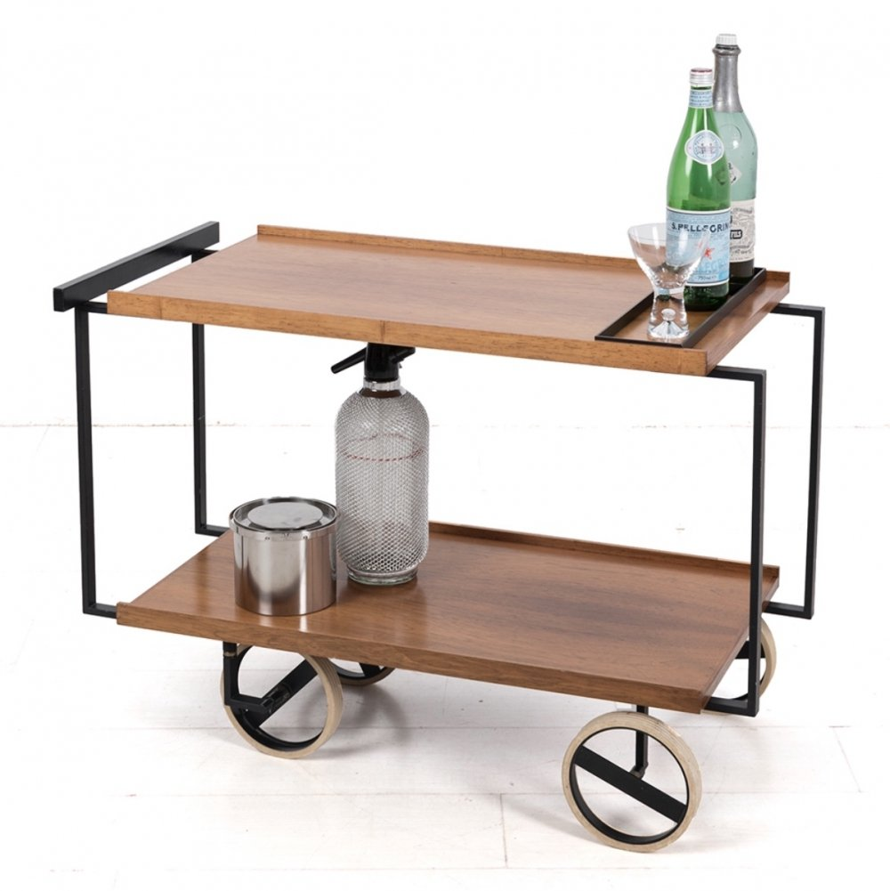 Modernist liquor trolley from the sixties