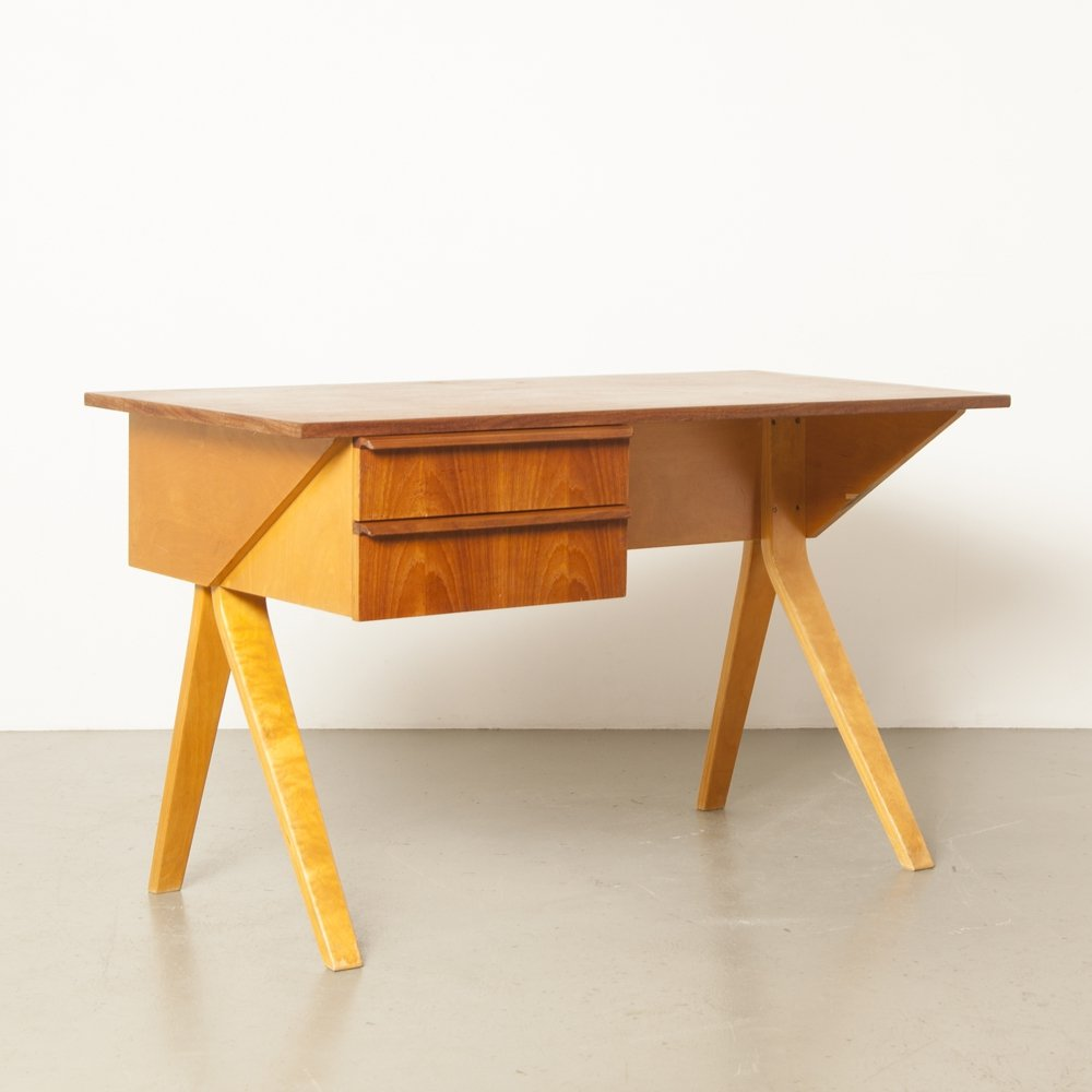 EB02 birch series desk writing desk by Cees Braakman for Pastoe, 1950s