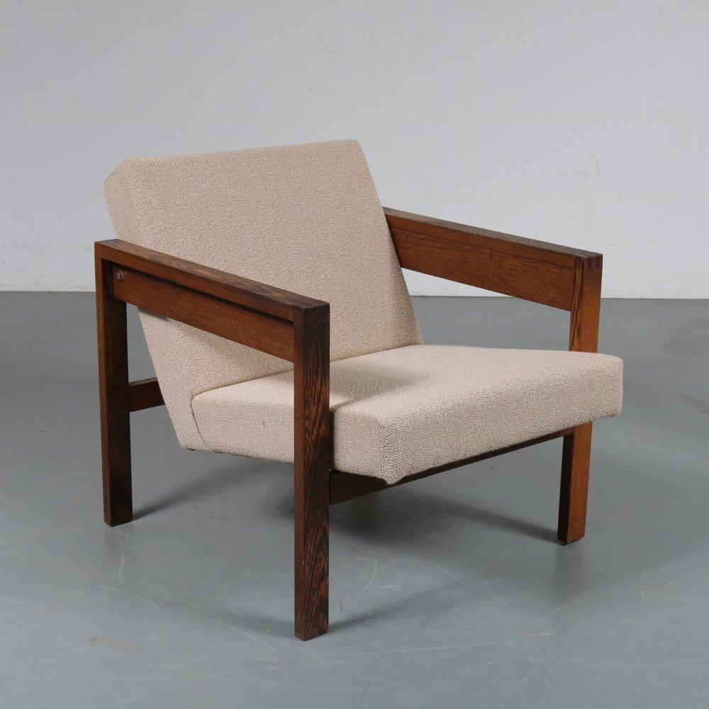 1950s Square Dutch easy chair by Hein Stolle for