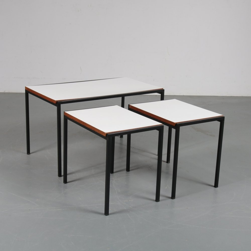 Nesting table set by Cees Braakman for Pastoe, 1960s