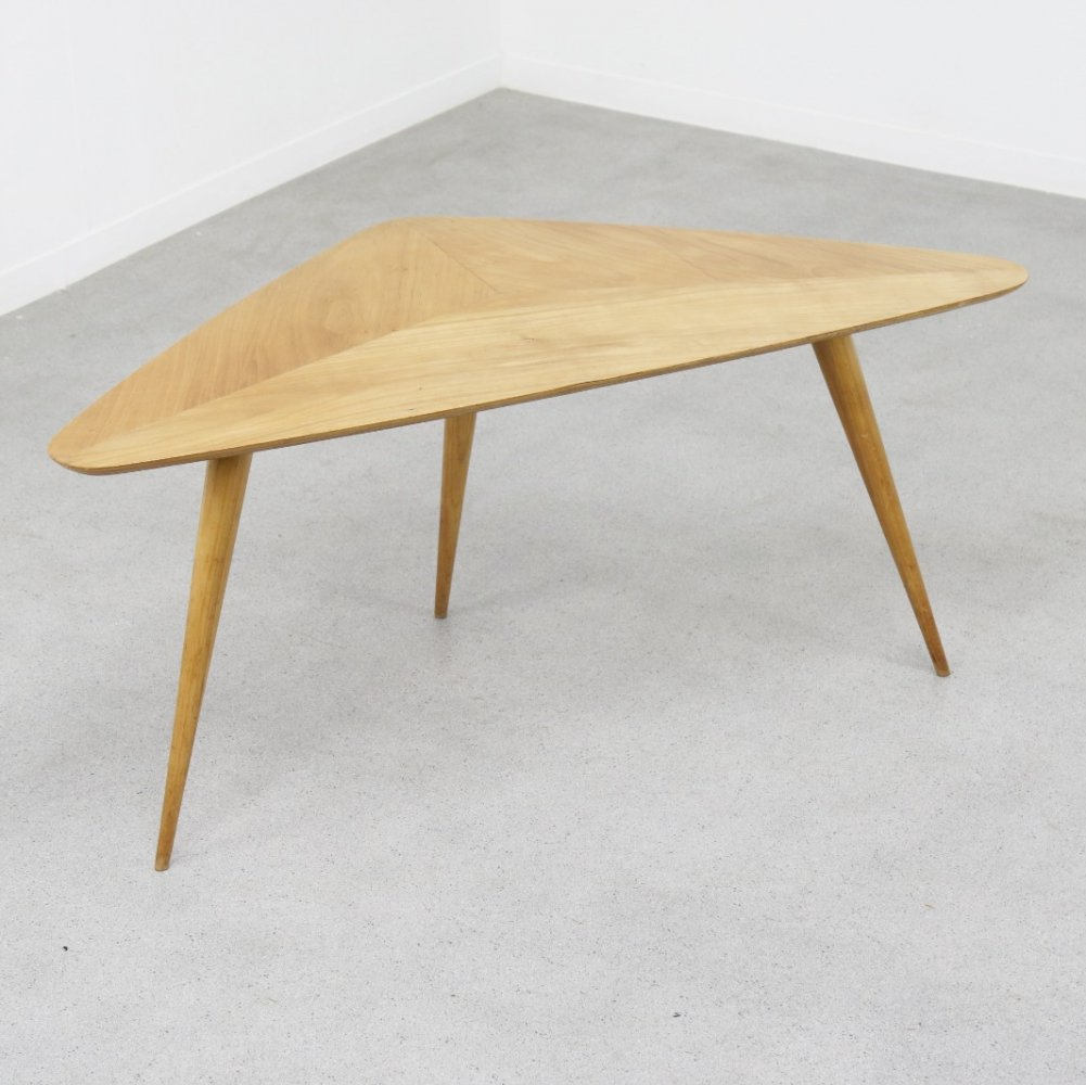 Rare birch series coffee table by Cees Braakman for Pastoe, NL 1950s
