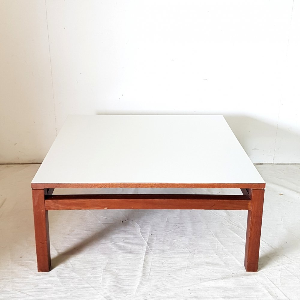 Model TZ42 square coffee table by Kho Liang Ie for