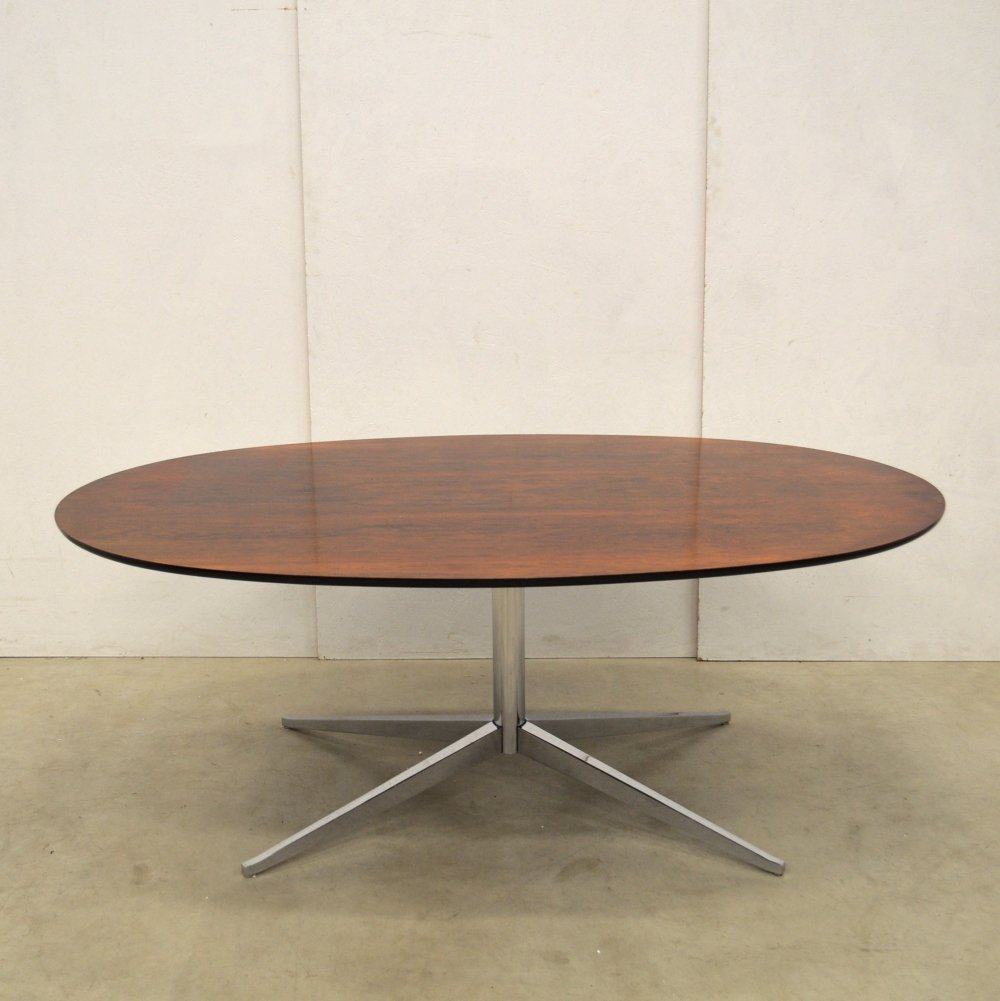 Rare Florence Knoll Rosewood Dining Table by Knoll, 1960s