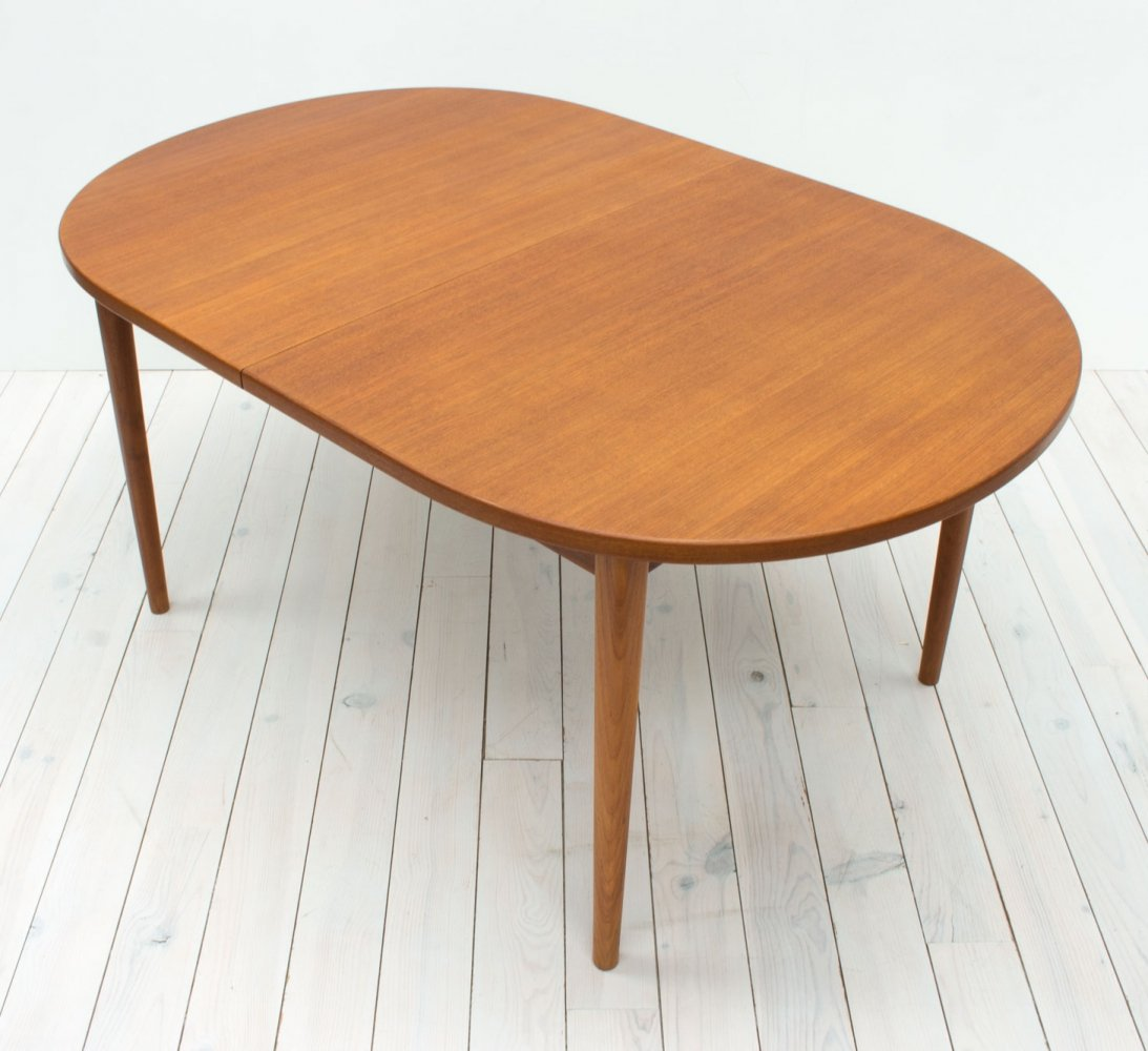 Ove Teak Extending Dining Table by Nils Jonsson for Troeds, 1960s