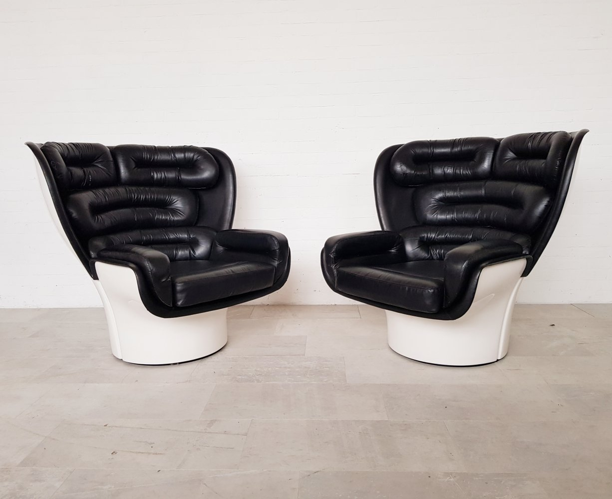 Set of 2 Elda chairs by Joe Colombo for Comfort Italy, 1960s