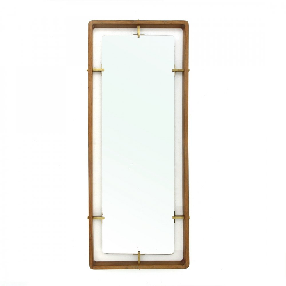 Midcentury rectangular frame mirror by Sant