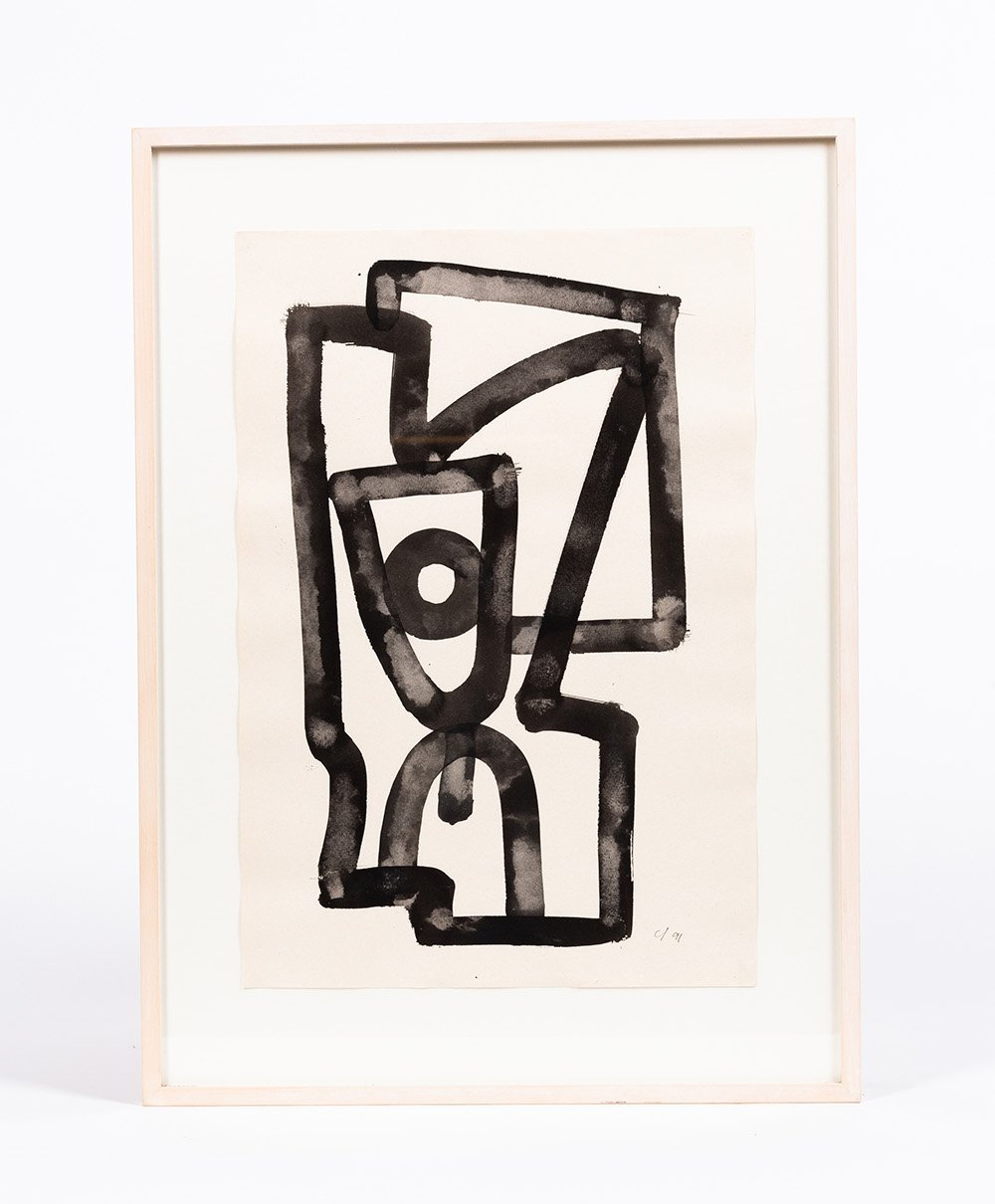 Abstract painting of the Swiss artist Claude Evrard