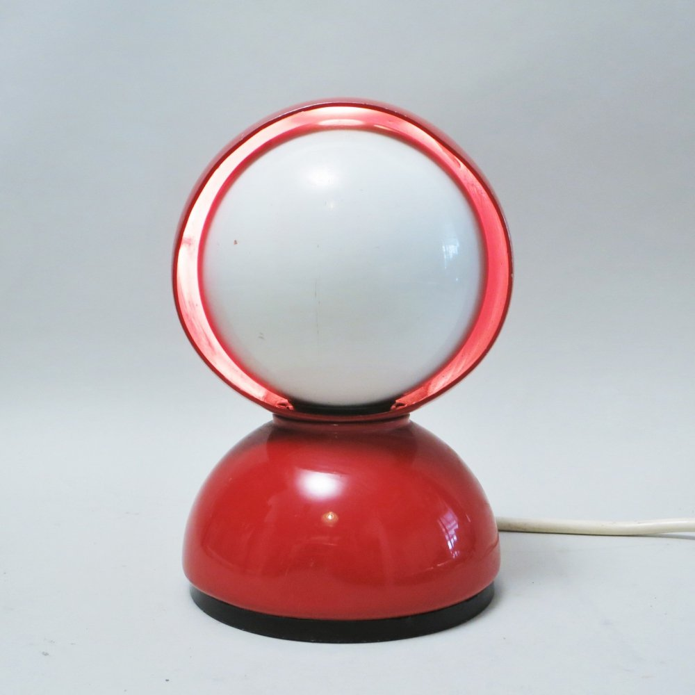 Red Eclisse lamp by Vico Magistretti, 1960s