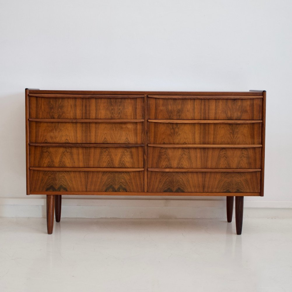 Double Row Rosewood Commode with Eight Drawers