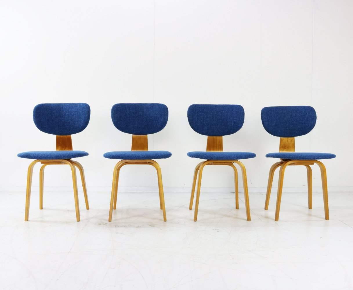 Set of 4 CB02 dining chairs by Cees Braakman for Pastoe, 1950s