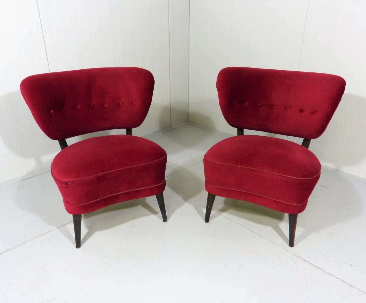 Set of 2 easy chairs by Otto Schulz, Sweden 1950s