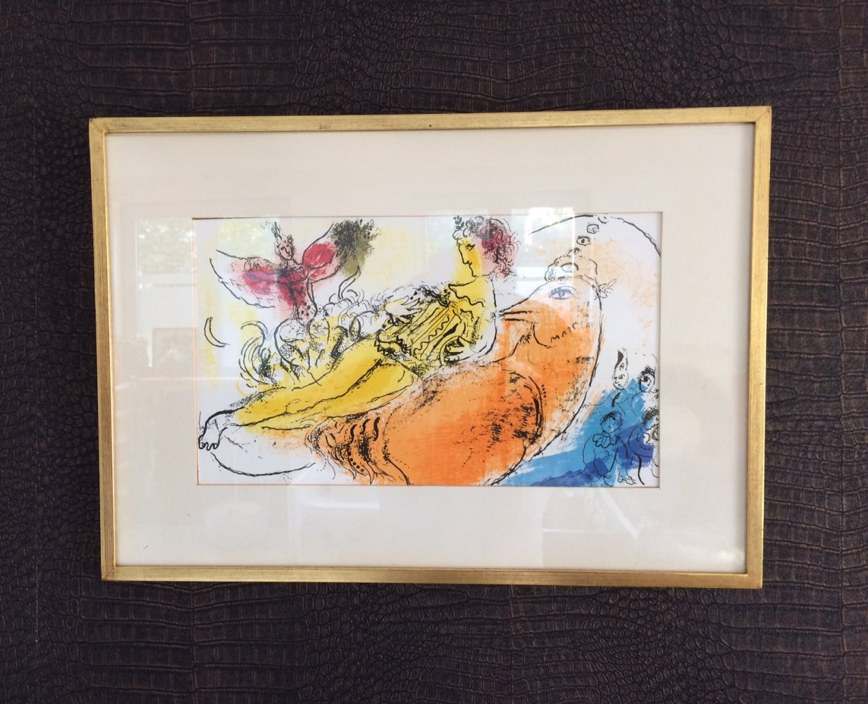 1957 Deluxe Art Lithograph print by Marc Chagall L