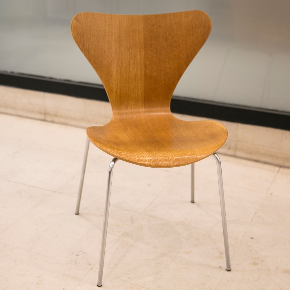 The Series 7 chair by Arne Jacobsen for Fritz Hansen