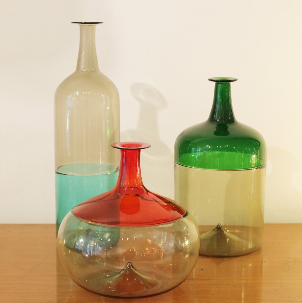 Lot of Murano Glass Vases by Tapio Wirkkala for Venini, Italy 1960s