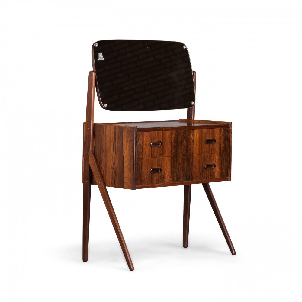 Danish rosewood dressing table with mirror, 1950s