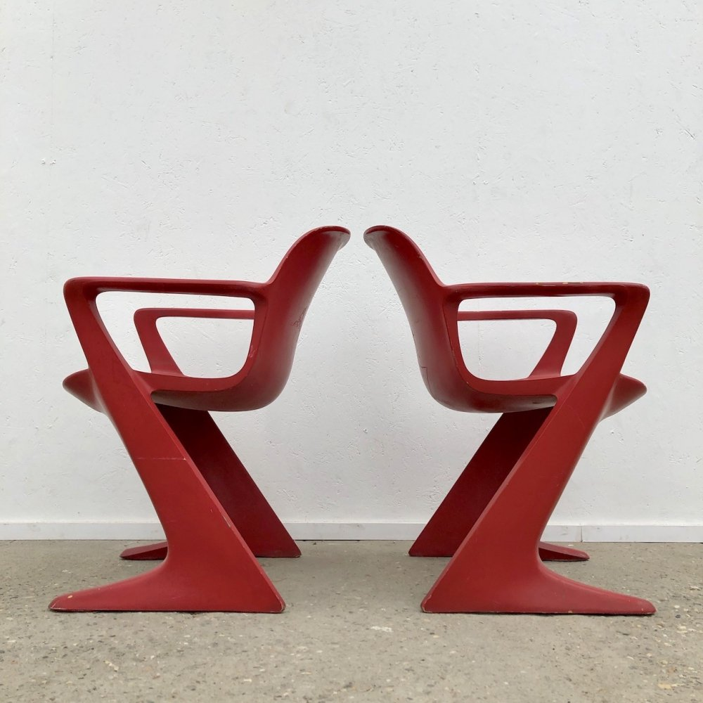 Space Age Z chair / Kangaroo chairs by Ernst Moeckl, 1960s
