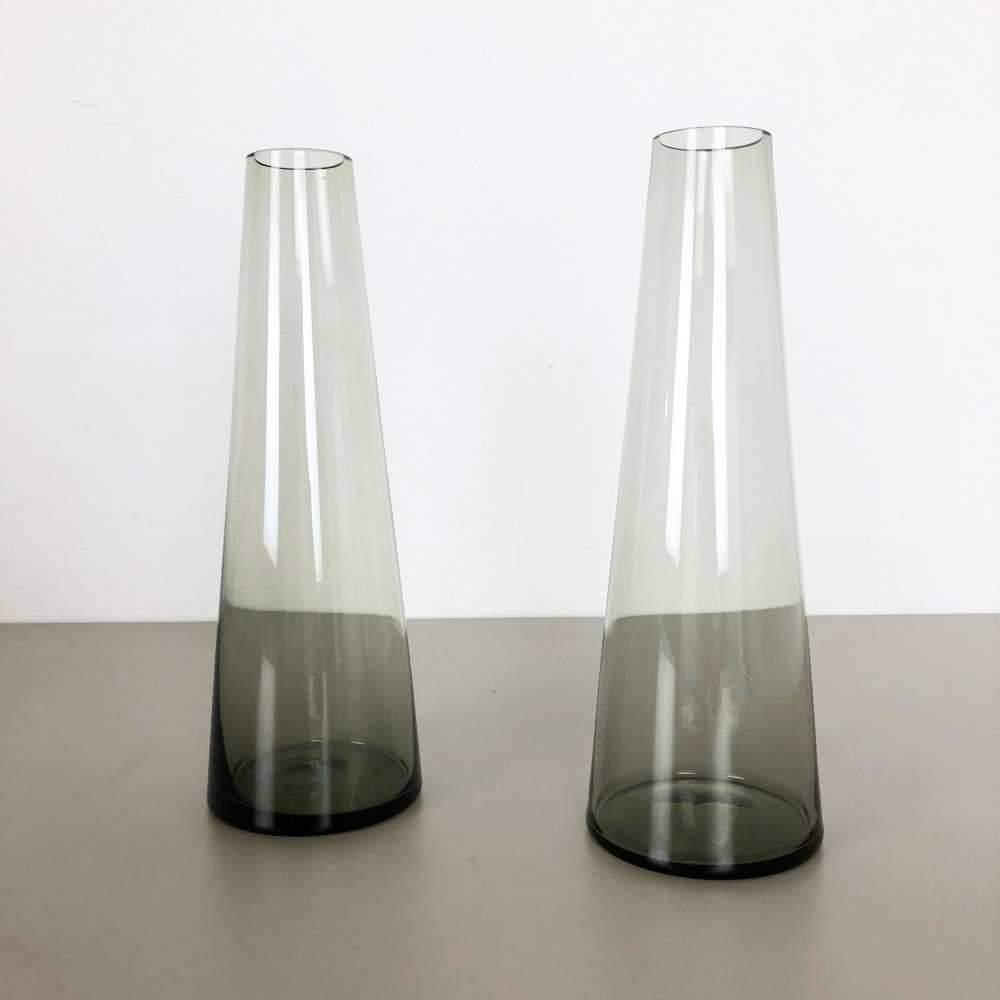 Set of 2 Turmalin Vases by Wilhelm Wagenfeld for WMF, Germany 1960s