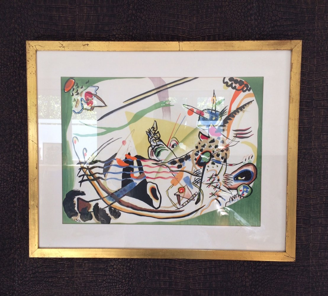 Wassily Kandinsky Lithograph print by Galerie Maeght for Derrière le miroir, 1957
