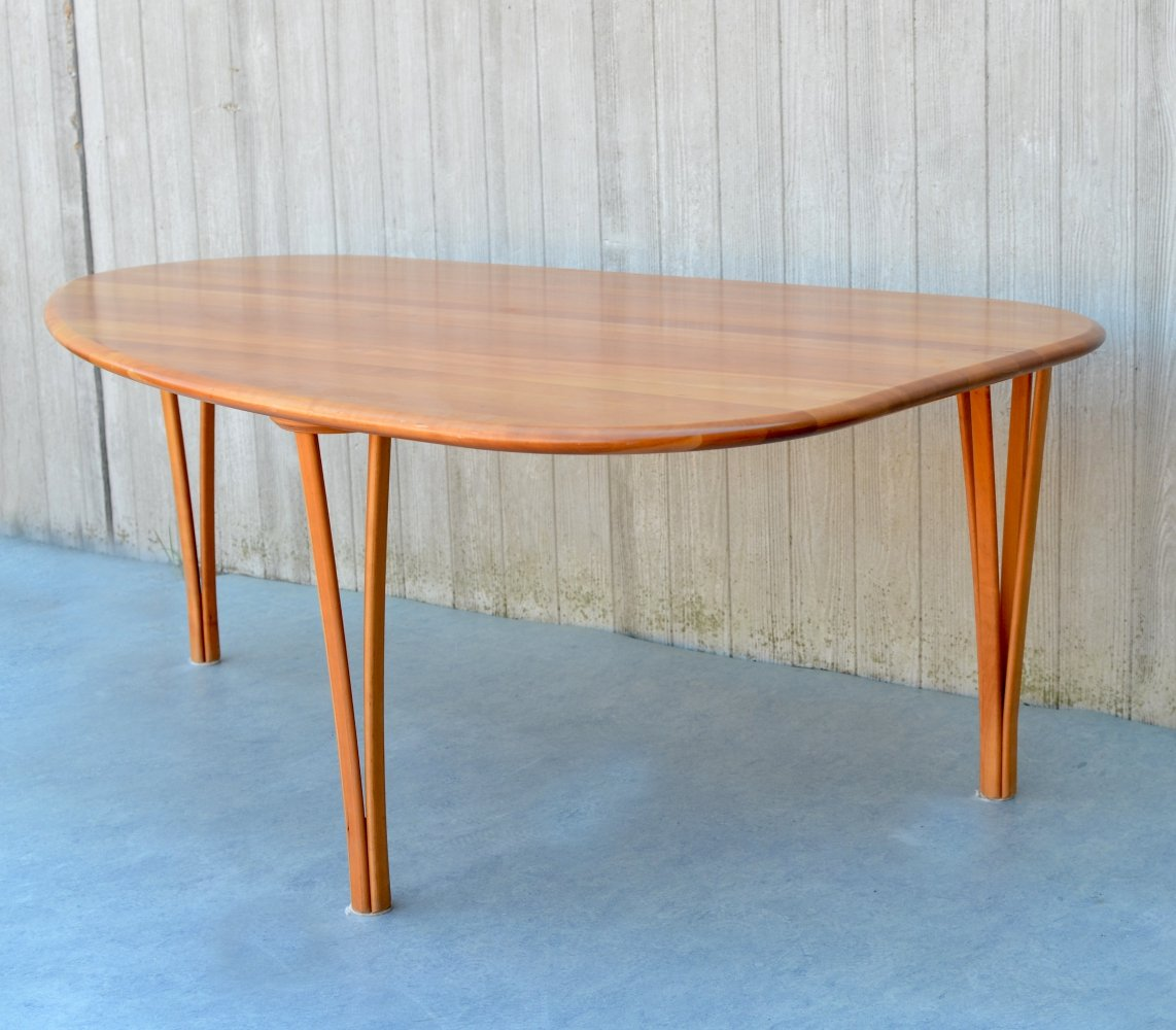 Triangular Shape Teak Coffee Table by Severin Hansen for Haslev Møbelsnedkeri, Denmark