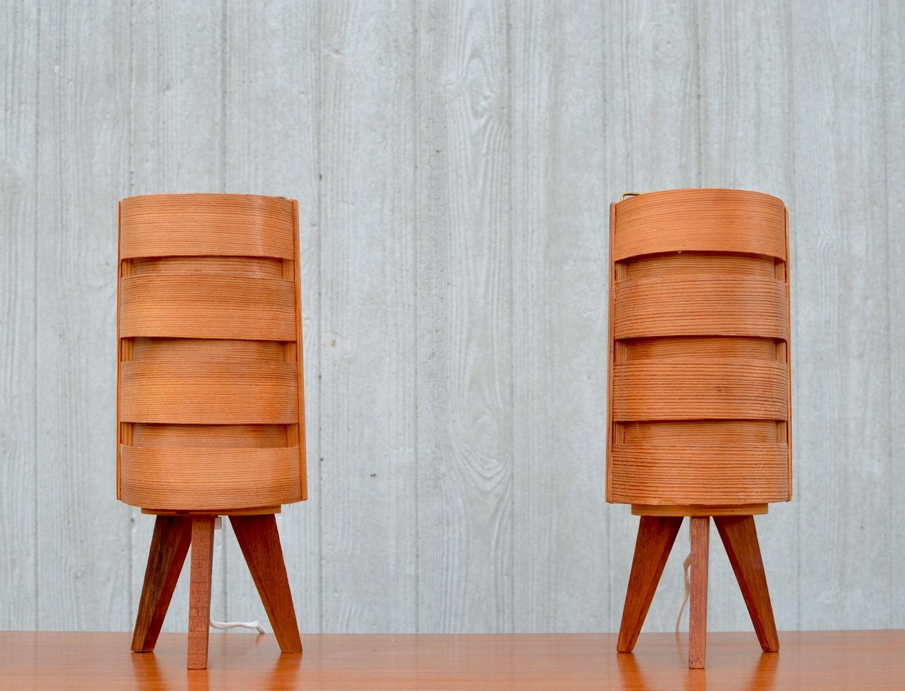 Mid-century Pine desk lamps by Hans Agne Jakobsson for AB Ellysett, Sweden