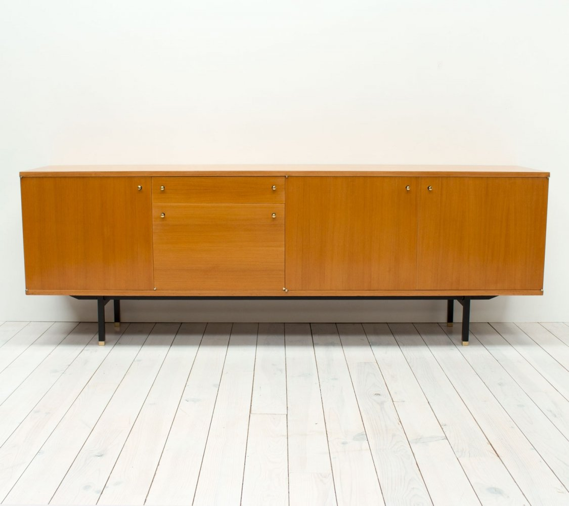 French Teak Sideboard by Paul Geoffroy for Roche Bobois, 1960s