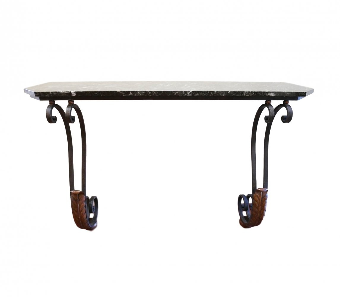 Marble top hallway console, 1940s