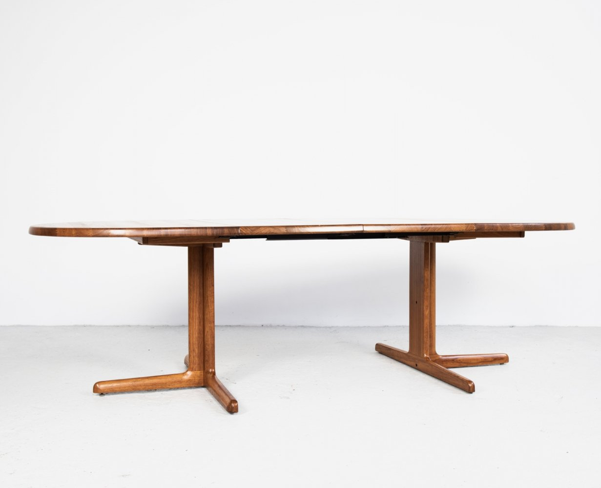 Midcentury Danish large oval dining table in teak, 1960s