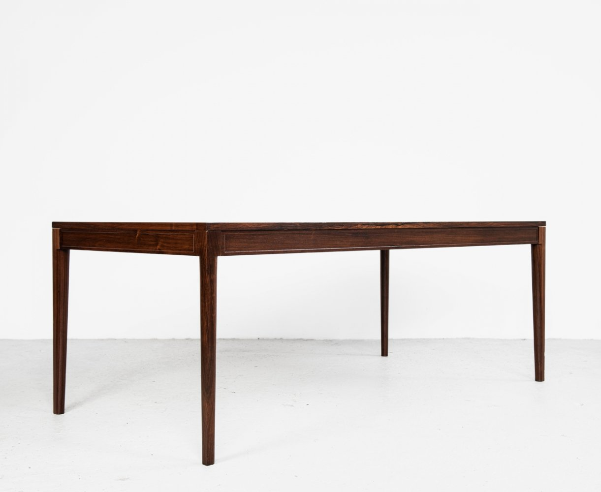 Midcentury rectangular dining table in rosewood by Finn Juhl for France & Søn