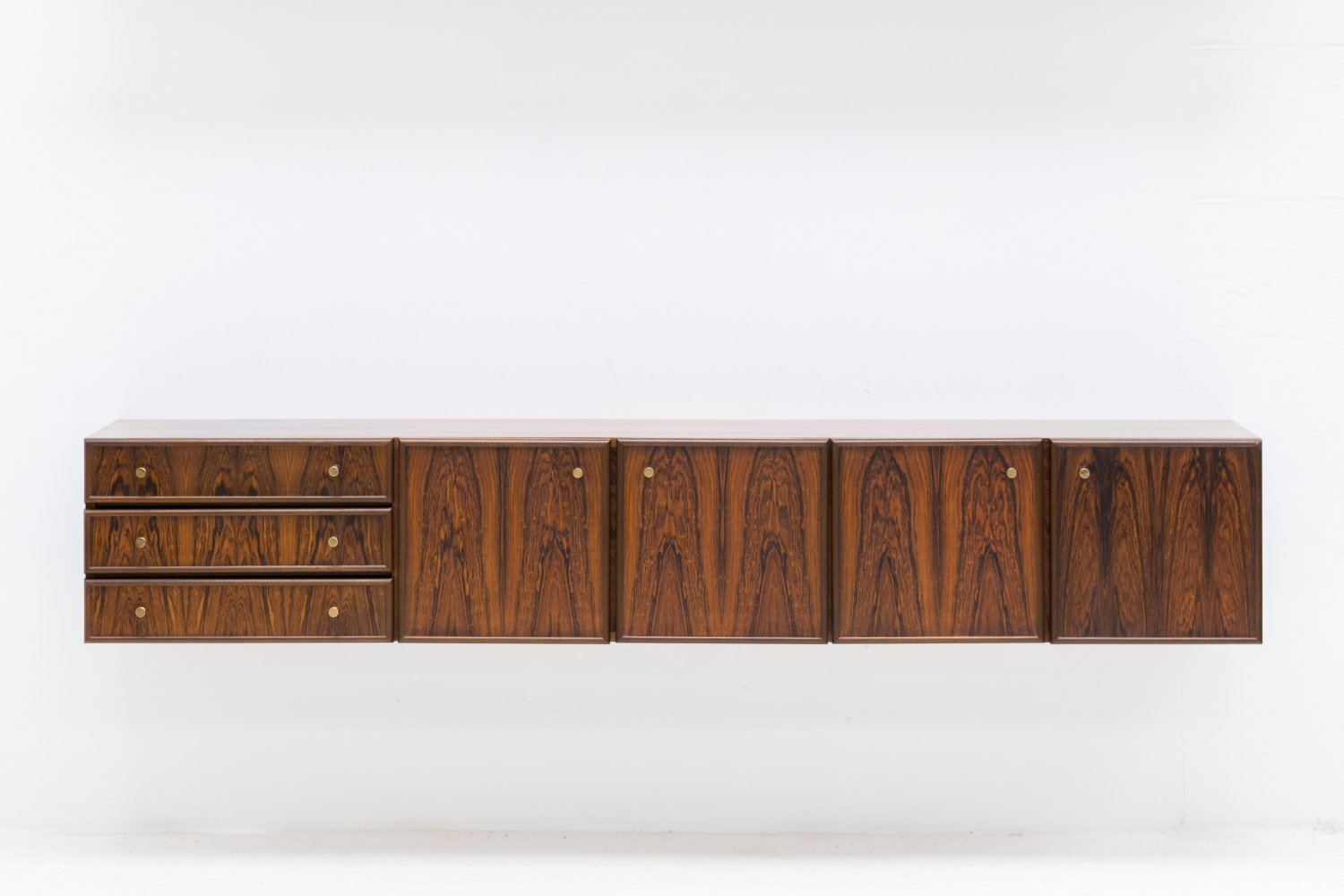 Floating sideboard in rosewood