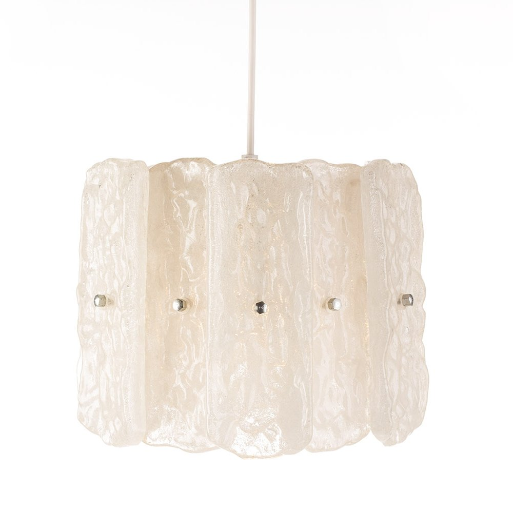 Vintage acrylic glass small form chandelier by Aro Leuchten, 1970