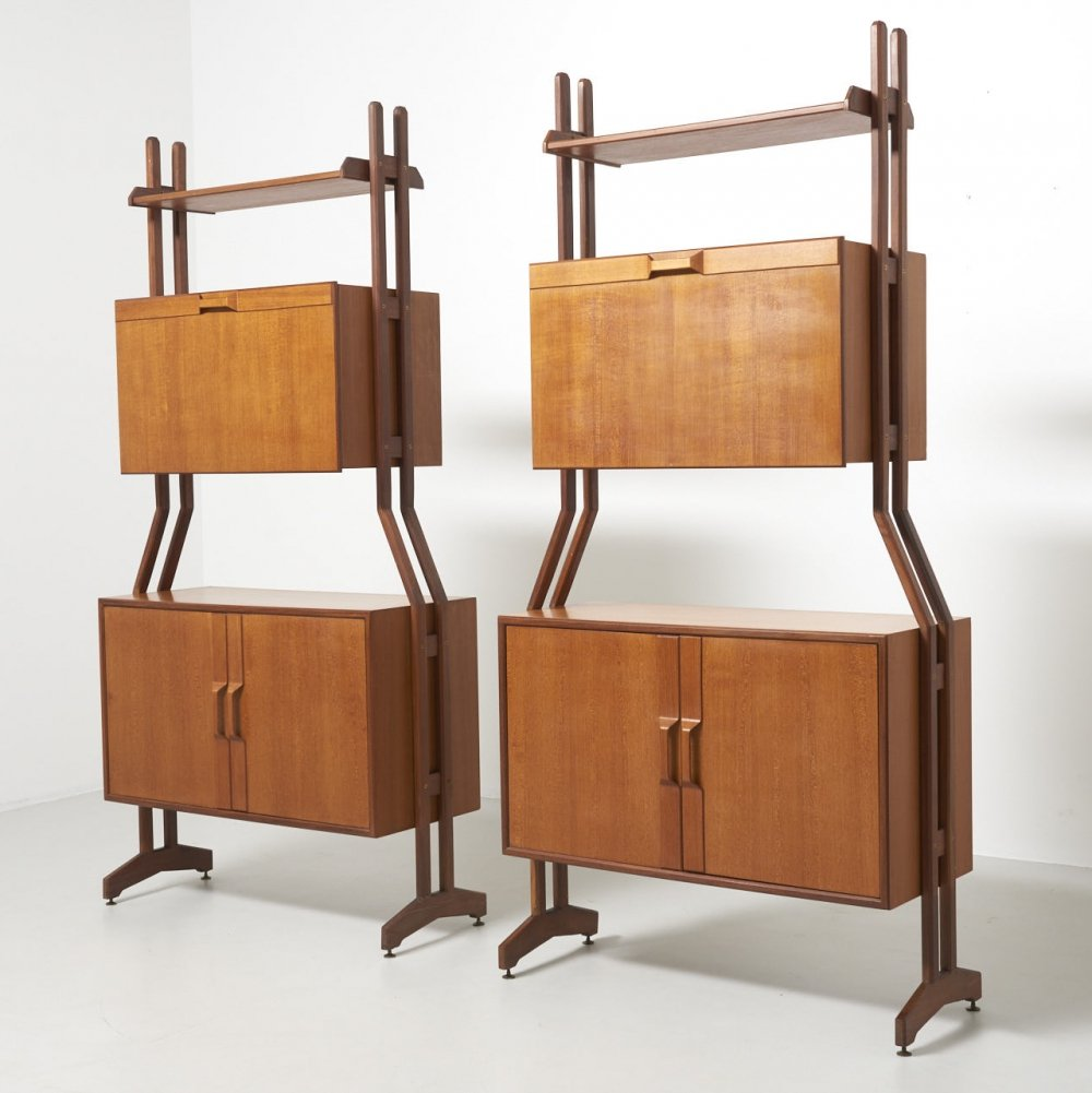 Pair of Italian shelving units, 1960s