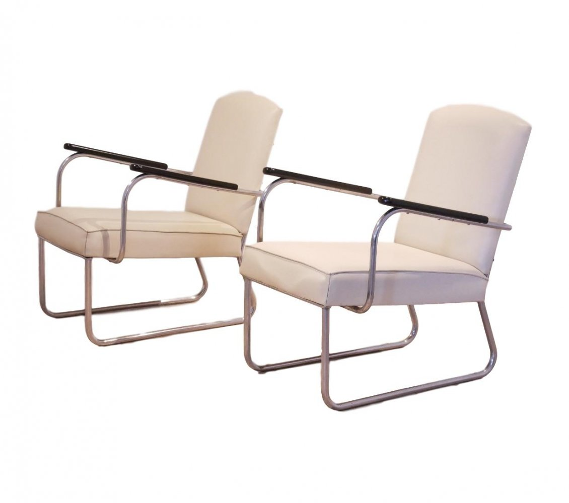 Bauhaus Easy Chairs by Jan Schroefer