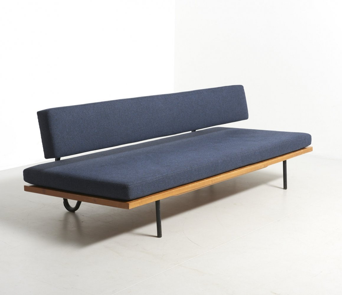 Modernist daybed in blue, 1960s