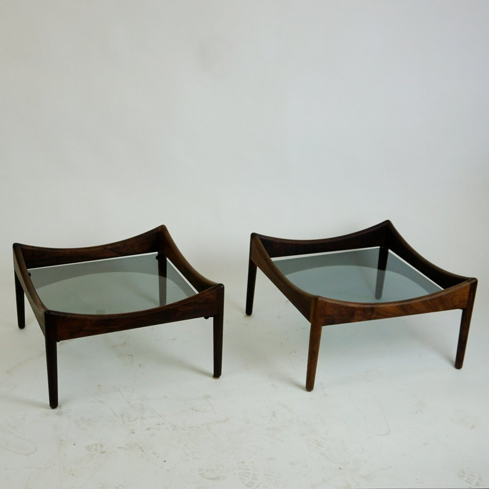 Pair of Rosewood Modus Coffee Tables by Kristian Vedel for Soren Willadsen