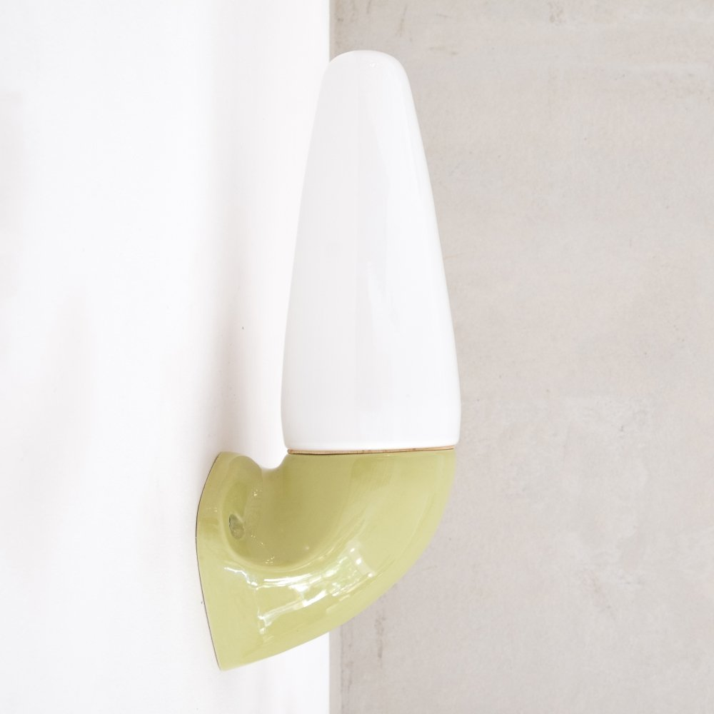 Porcelain & Glass sconce by Sigvard Bernadotte for IFÖ Sweden