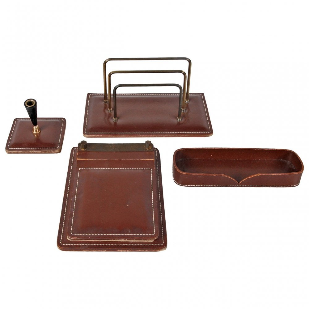 Leather Office set, France 1950s