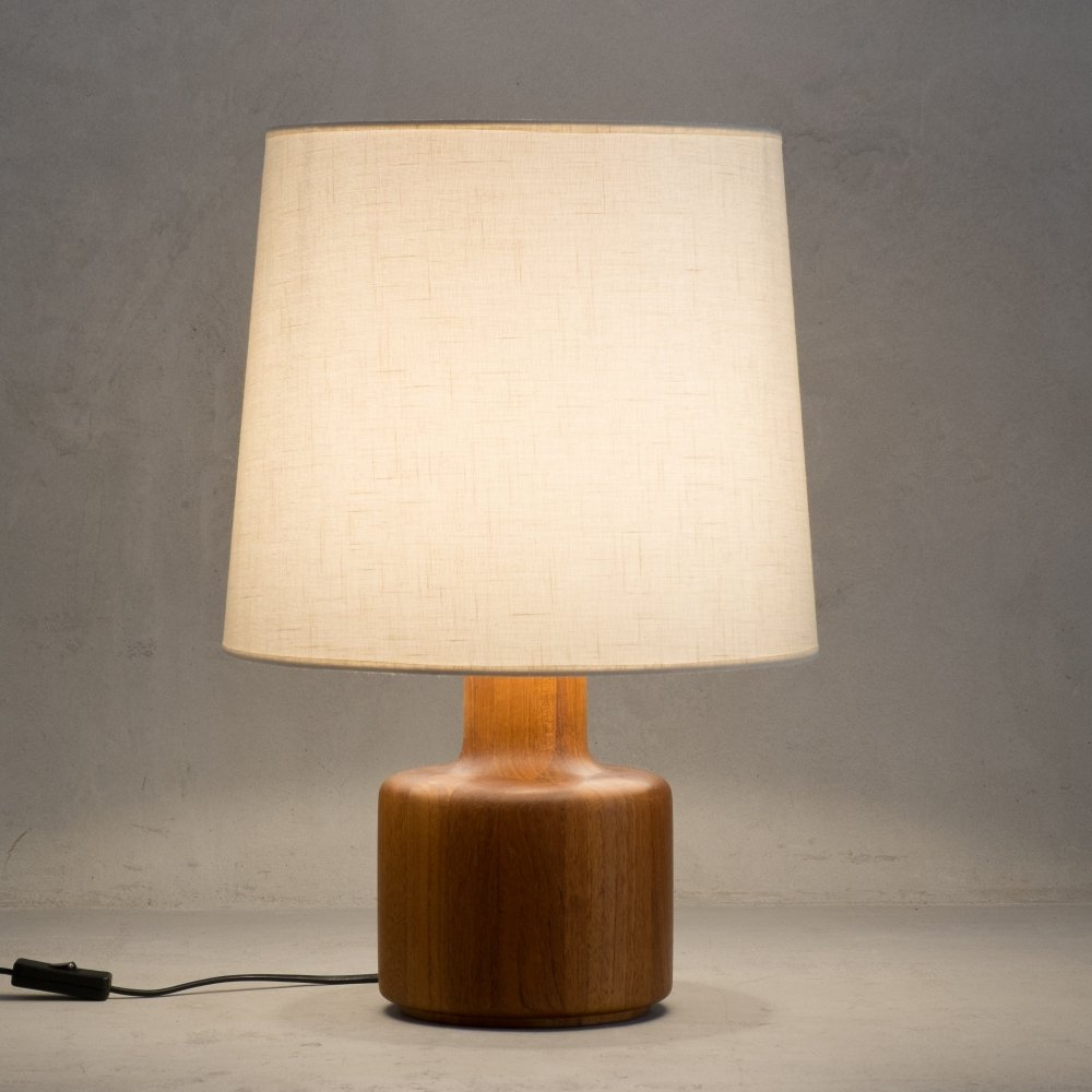 Solid teak table lamp by Bestform, 1960s