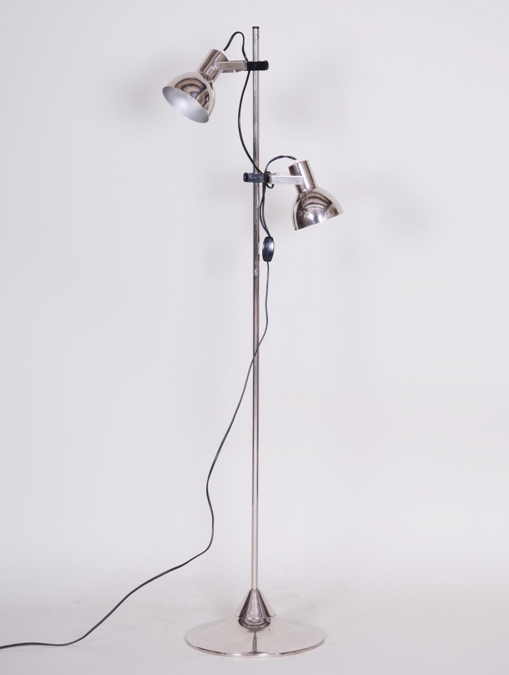 Czech Midcentury Chrome Floor Lamp, 1960s